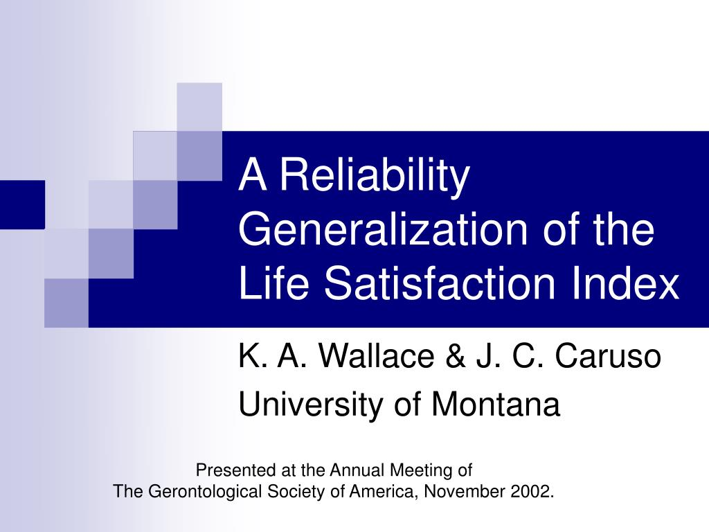 a reliability generalization of the life satisfaction index l.