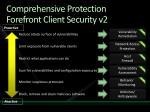 comprehensive protection forefront client security v2