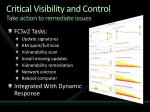 critical visibility and control take action to remediate issues