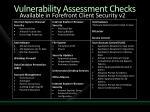 vulnerability assessment checks