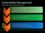 vulnerability management proactively reduce the surface area