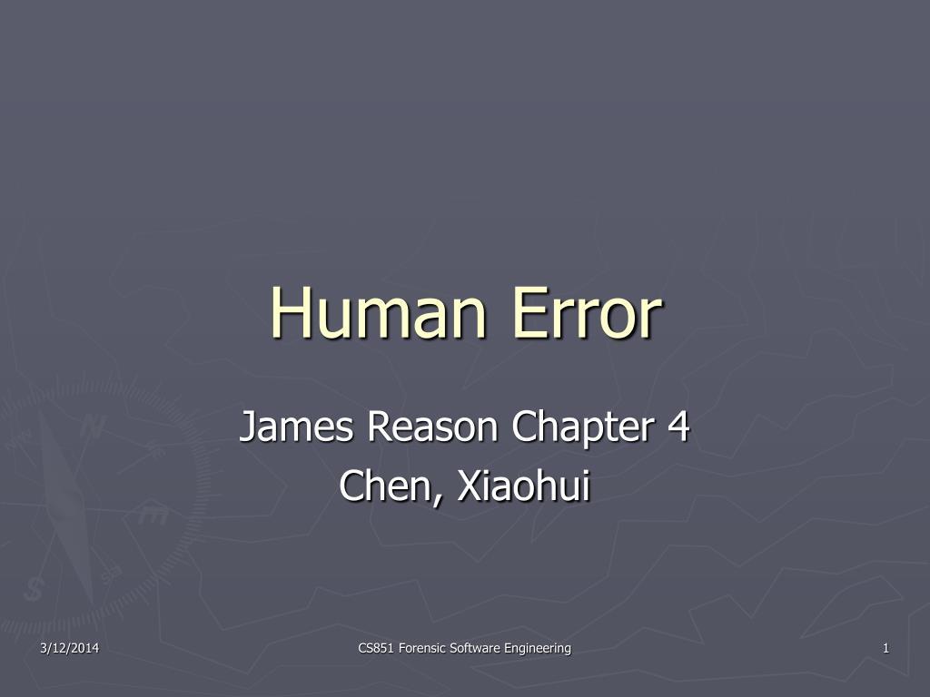 human error l.