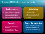 impact of background activity