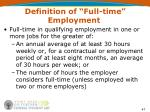 definition of full time employment