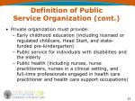 definition of public service organization cont42