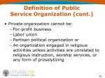 definition of public service organization cont44