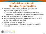 definition of public service organization