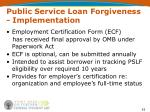 public service loan forgiveness implementation53