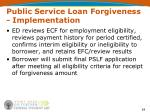 public service loan forgiveness implementation54