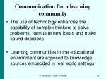 communication for a learning community90