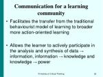 communication for a learning community92