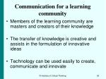 communication for a learning community93