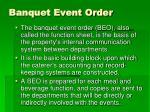 banquet event order