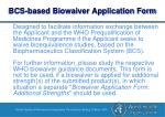 bcs based biowaiver application form