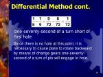 differential method cont