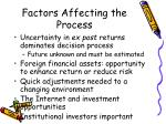 factors affecting the process