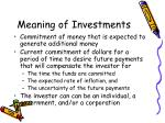 meaning of investments