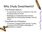 why study investments