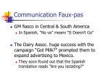 communication faux pas
