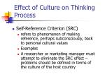 effect of culture on thinking process