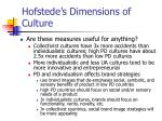 hofstede s dimensions of culture25