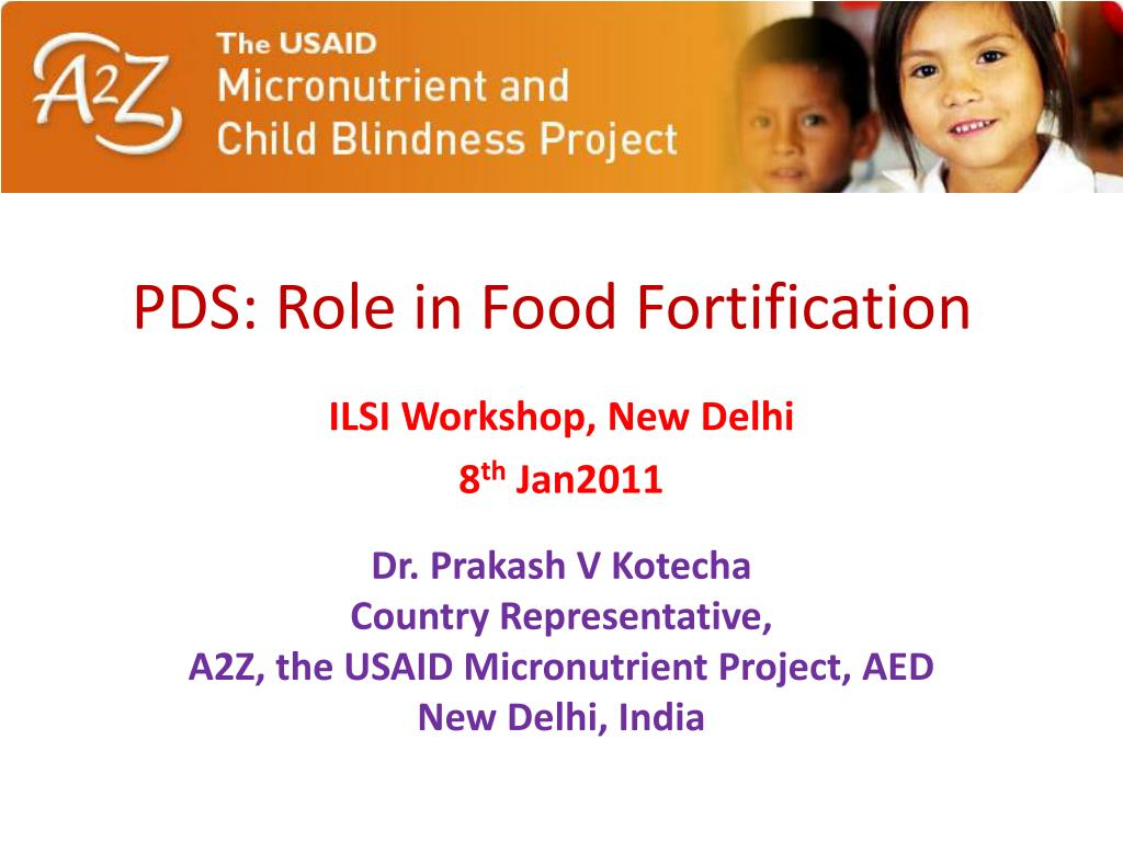 pds role in food fortification l.
