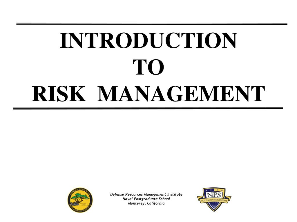introduction to risk management l.