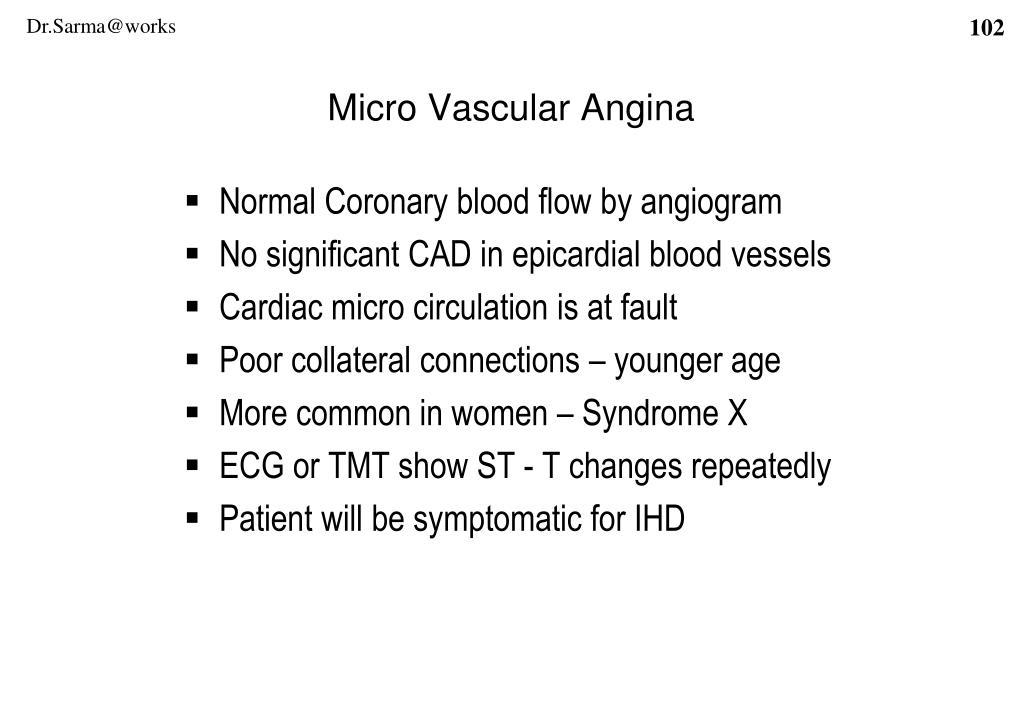 Micro Vascular Angina