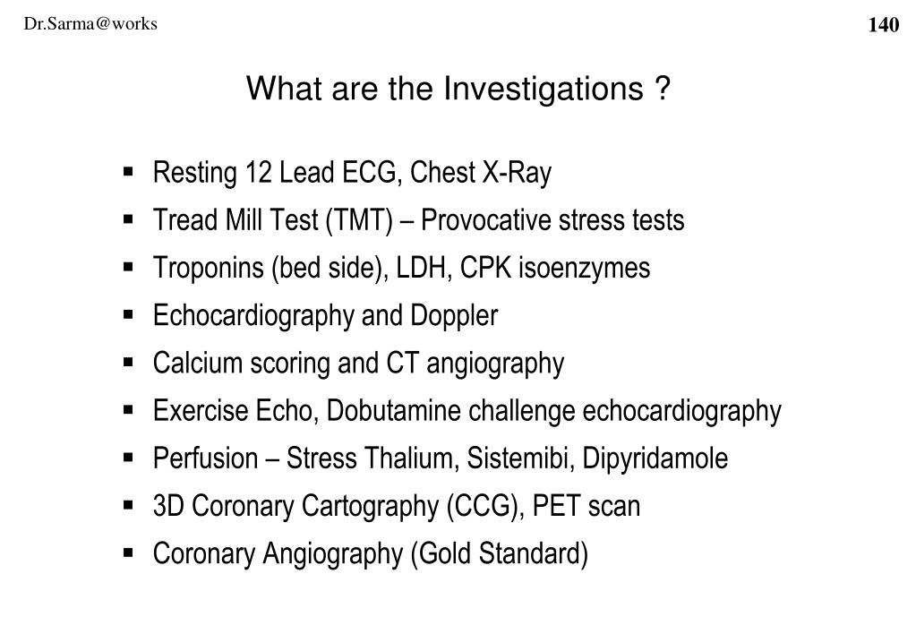 What are the Investigations ?
