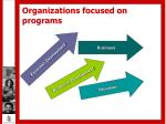 organizations focused on programs6