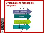 organizations focused on programs9