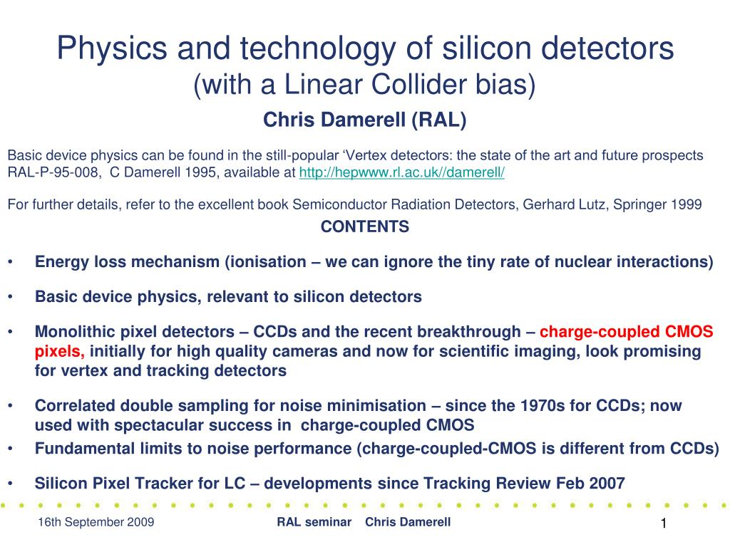 physics and technology of silicon detectors with a linear collider bias l.