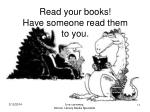 read your books have someone read them to you