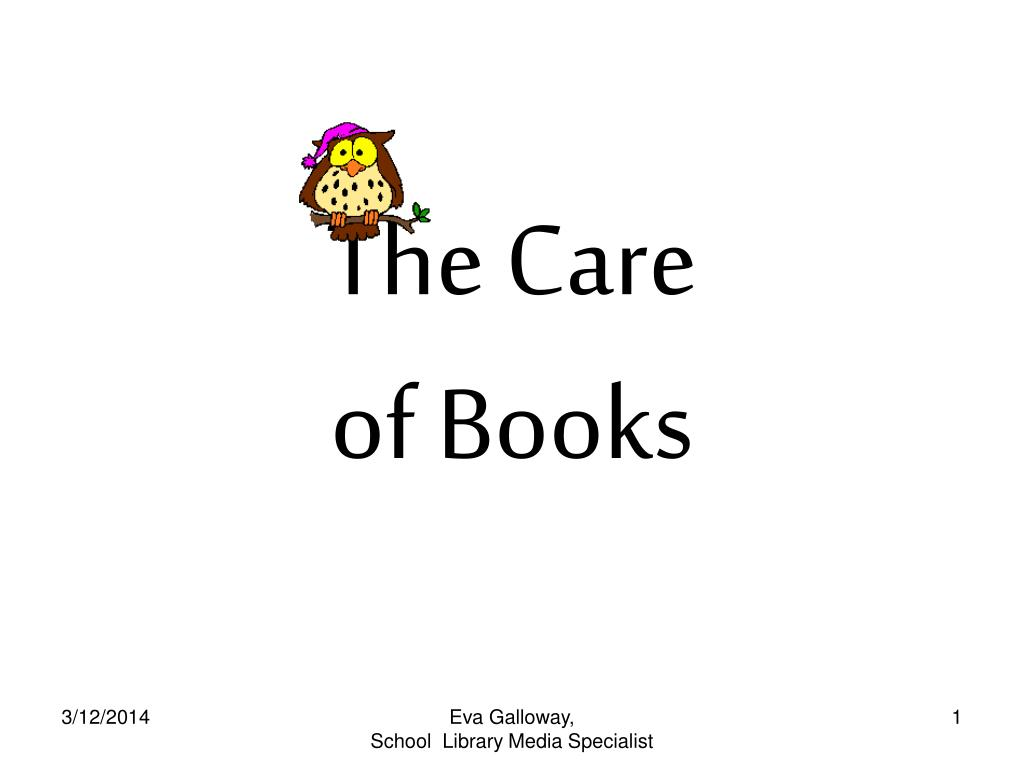 the care of books l.