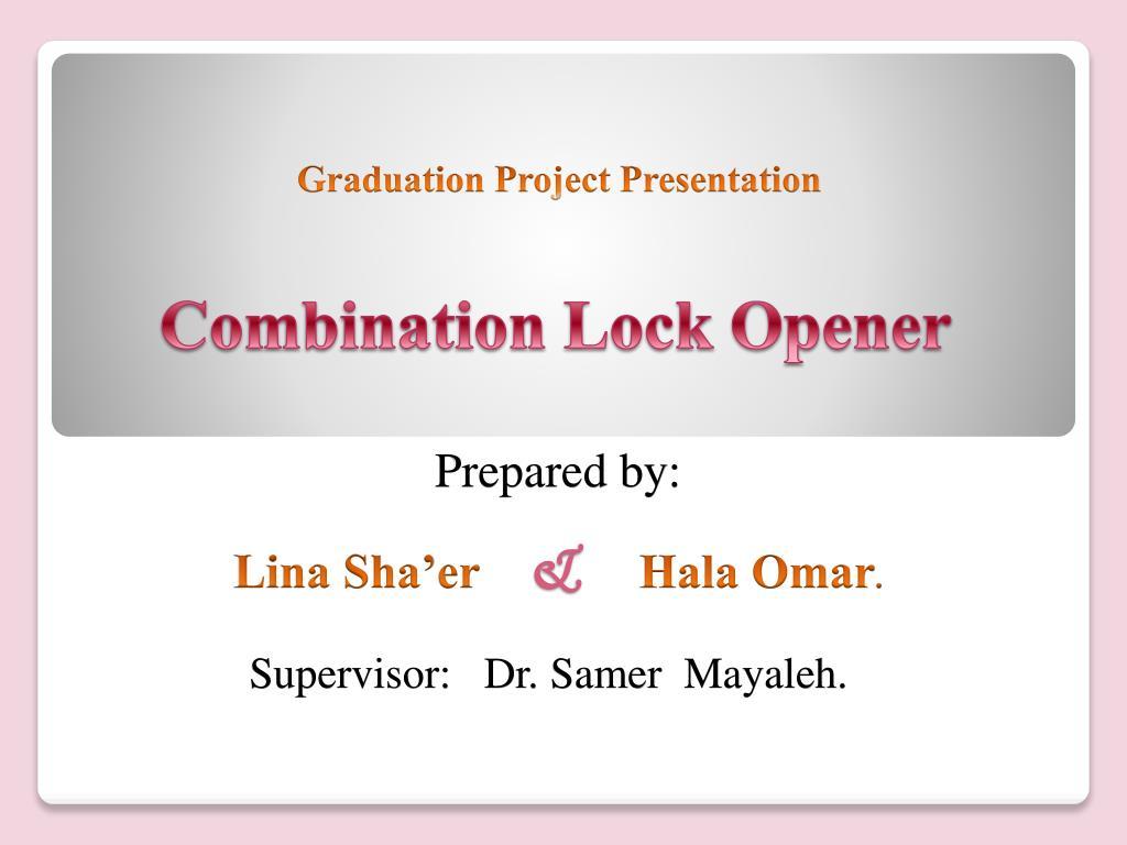 combination lock opener l.