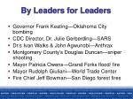 by leaders for leaders