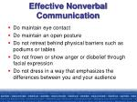 effective nonverbal communication