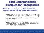risk communication principles for emergencies22