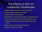 the effects of cdc on leadership hindrances