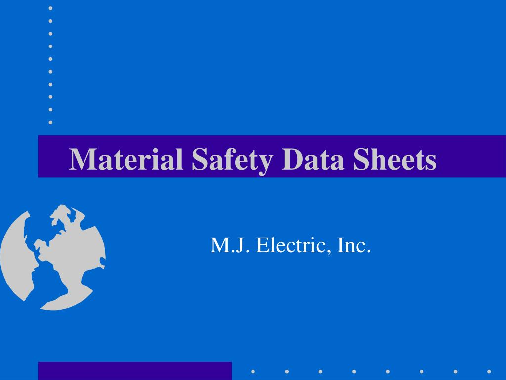 material safety data sheets l.