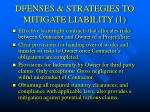 dfenses strategies to mitigate liability 1