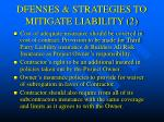 dfenses strategies to mitigate liability 2