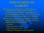 steps to mitigate liability