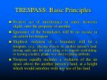 trespass basic principles