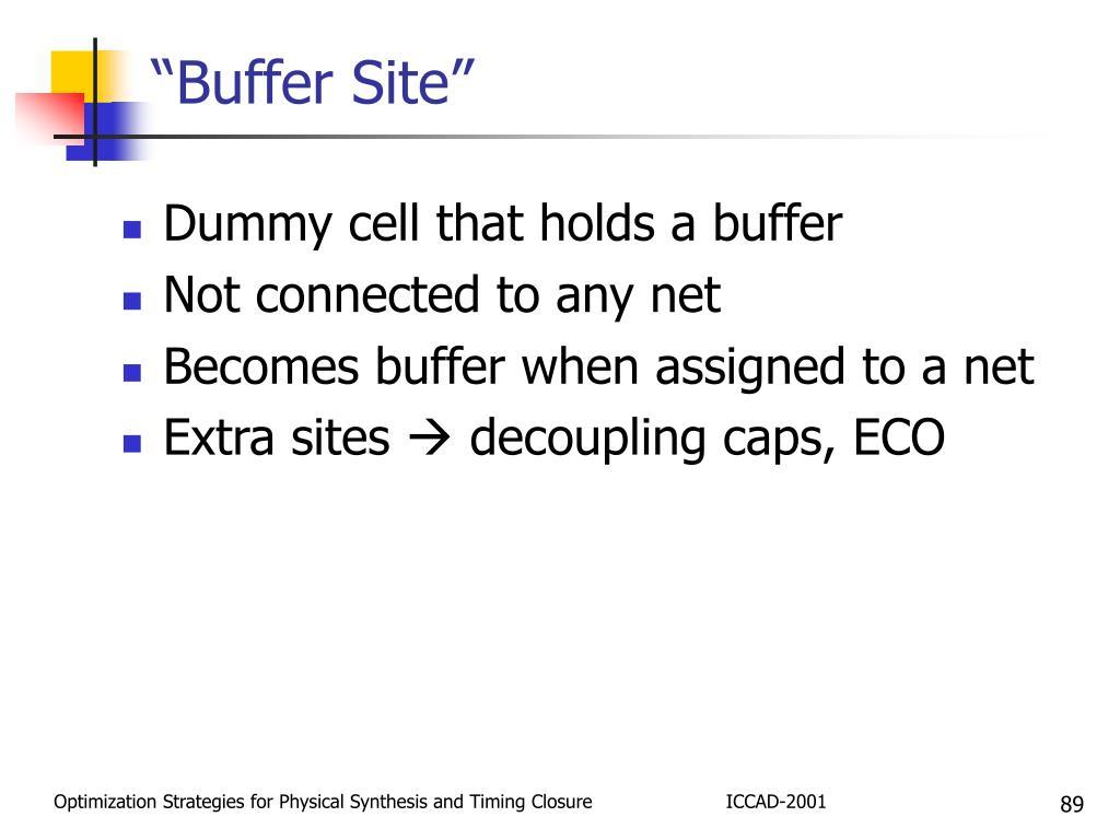 """""""Buffer Site"""""""