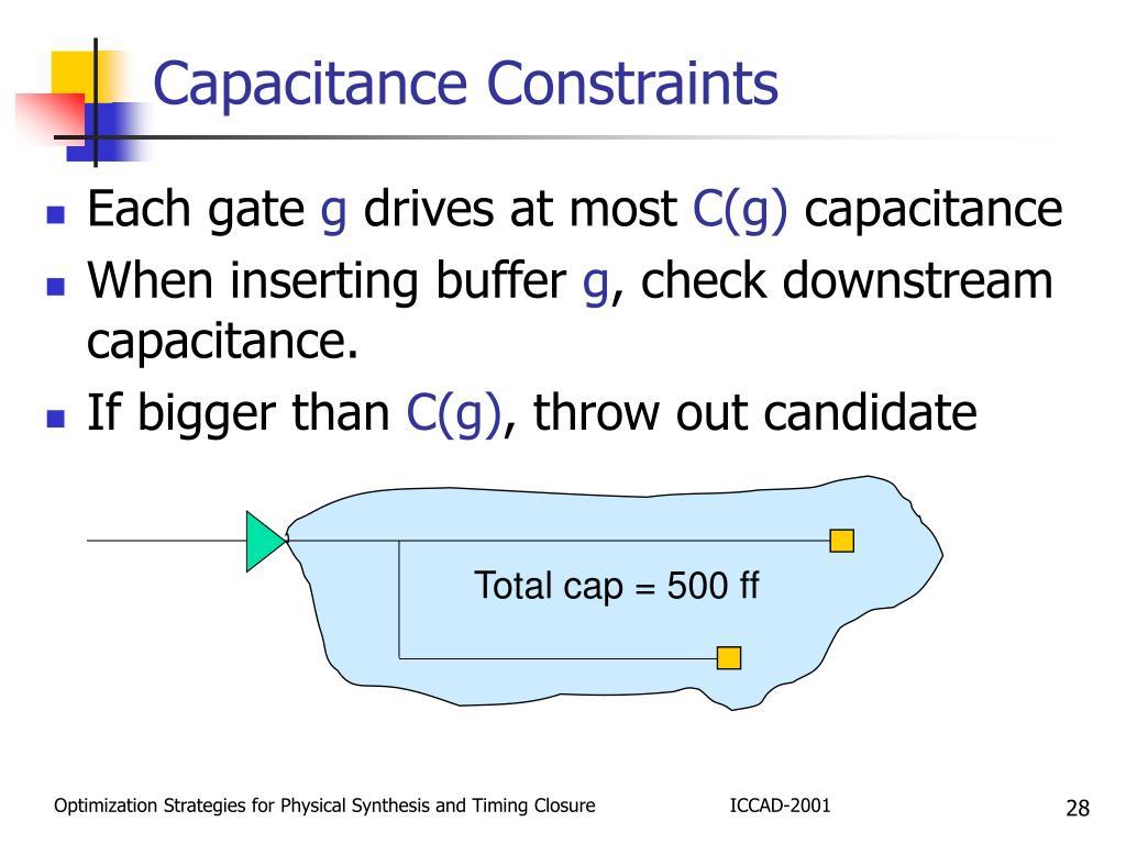 Capacitance Constraints