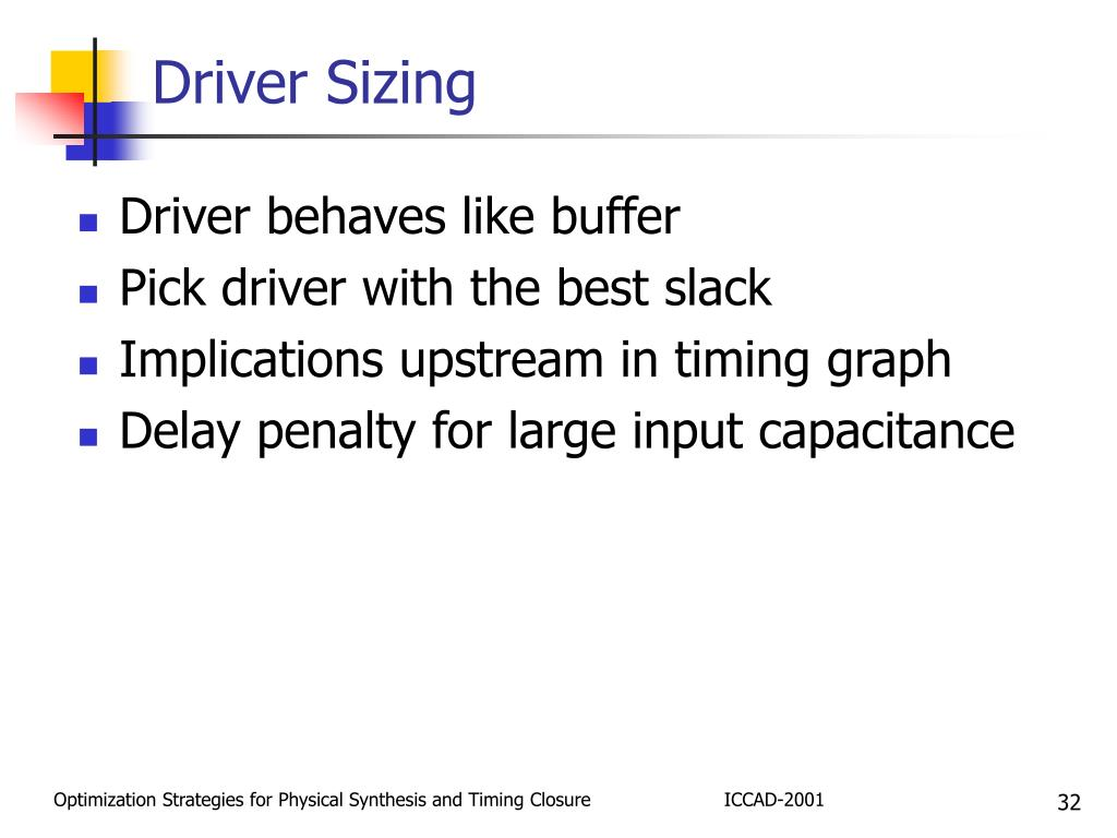 Driver Sizing
