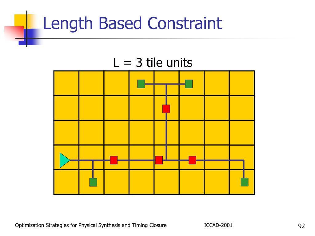 Length Based Constraint