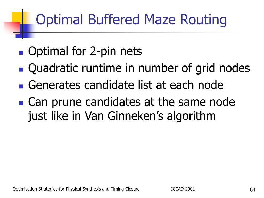 Optimal Buffered Maze Routing