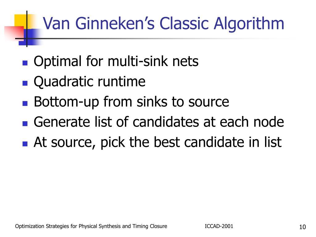 Van Ginneken's Classic Algorithm